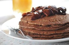 These were amazing pancakes with cinnamon apple topping! I used flax in place of eggs.