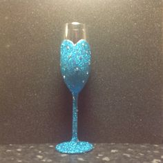 Elsa from Frozen inspired champagne flute