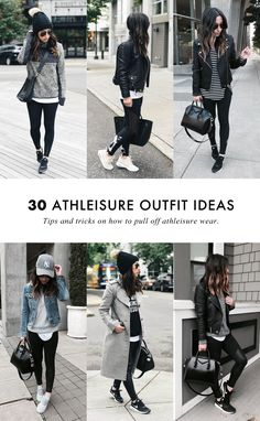 To Pull Off Athleisure Wear + 30 Outfit Ideas Style tips on how to wear the athleisure trend.Style tips on how to wear the athleisure trend. Athleisure Trend, Athleisure Fashion, Athleisure Outfits, 30 Outfits, Mode Outfits, Casual Outfits, Fashion Outfits, Cute Outfits With Nikes, Outfits With Black Jeans