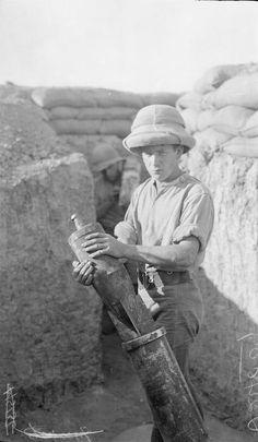 Trench mortar.