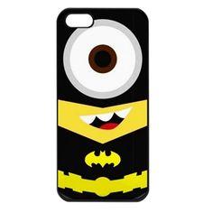 Batman Despicable Me Minion with Cute Mustache iphone 4 4s case