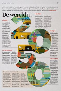 Graphic: Floris Hoorelbeke Art Direction: Arne Depuydt/Freek De Groote © DeMorgen #editorial #design #newspaperdesign