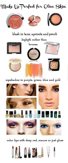 Makeup for olive skin tones