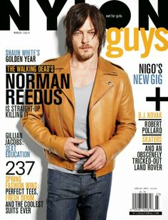 Norman Reedus para Nylon Guys Marzo 2014 | Male Fashion Trends