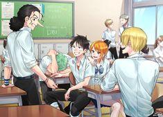 One piece Schule Source by narukirkland zoro One Piece Manga, One Piece Fan Art, One Piece Crew, One Piece Comic, Zoro One Piece, One Piece Ship, One Piece Images, One Piece Pictures, Zoro Roronoa