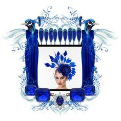 "Glass jewel earrings: ArxRosarum.etsy.com; Fascinator: ArturoRios.etsy.com; Peacocks: BarbaraSzepesiSzucs.etsy.com; Engagement ring: mdcdiamonds.com; Gown: boutique1.com; Others. ""Sapphire Dream"" by arxrosarum on Polyvore Fascinator, Sapphire, Collections, Rainbow, Engagement Rings, Jewels, Peacocks, Frame, Polyvore"