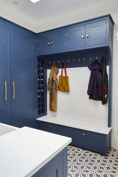 Our Favorite elegant cloakroom ideas for 2019 Long Kitchen, New Kitchen, Kitchen Ideas, Kitchen Inspiration, Pantry Ideas, Smart Kitchen, Kitchen Designs, Boot Room Utility, Utility Sink