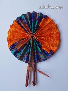 Kissiwaa Foldable Hand Held Fan by AdinkraExpo on Etsy https://www.etsy.com/listing/465571583/kissiwaa-foldable-hand-held-fan