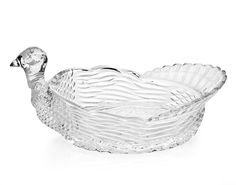 Crystal Turkey Serving Bowl