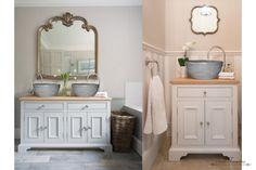 Σχετική εικόνα Vintage Bathroom Cabinet, Double Vanity, Perspective, Change, Check, Decor, Decoration, Perspective Photography, Decorating