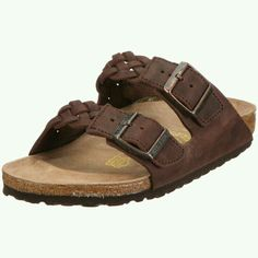 71837fa02109 Birkenstock slippers Arizona in size W EU made of Waxy Leather in Habana  Gross-Braid with a regular insole