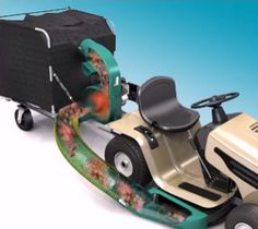 Cyclone Rake Lawn Vacuum Systems