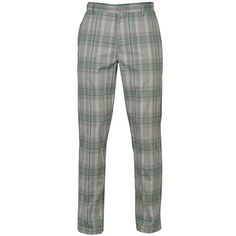 UK Golf Gear - Slazenger Mens Checked Golf Trousers Pants Bottoms Rubberised Lining to Waist
