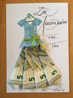 Gift idea, money gift, give away money - Birthday Presents Don D'argent, Ideas Sorpresa, Creative Money Gifts, Folding Money, Diy And Crafts, Paper Crafts, Money Origami, Birthday Presents, Diy Gifts