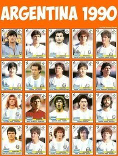 Argentina team stickers for the 1990 World Cup Finals. Best Football Team, National Football Teams, World Football, Soccer World, Football Soccer, Argentina Team, Argentina World Cup, Argentina Football, Soccer Cards