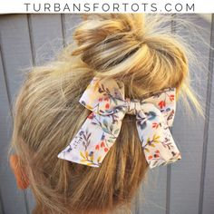 Spring Dreams retro clip bow by turbansfortots on Etsy