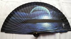 Beautiful. Hand Held Fan, Hand Fans, Hair Rubber Bands, Chinese Fans, Fan Decoration, Paper Fans, Classic Paintings, My Favorite Color, Fancy