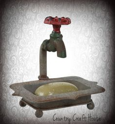 Faucet Soap Dish  ~from Country Craft House