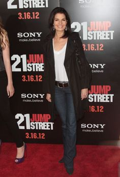 Sela Ward at the World Premiere of 21 Jump Street, photo by Retna. Fame Game