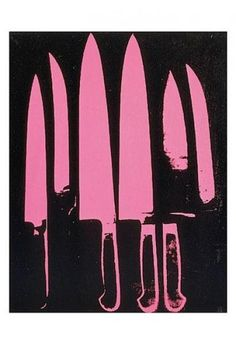 Andy Warhol - Knives, c. 1981-82 (pink and black) - Fine Art Print