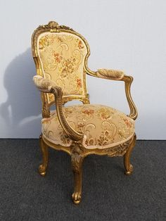 French Furniture, Unique Furniture, Vintage Furniture, Lacquer Furniture, Upholstered Furniture, Blue Dining Tables, Rococo Chair, Rocker Recliner Chair, Accent Chairs For Sale
