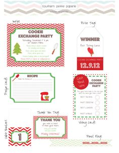 Hosting a Cookie Exchange? Heres your chance to get printable, custom invites and party goods for your special get together.    Send me your