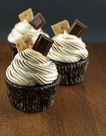 Authentic Suburban Gourmet: Chocolate S'mores Cupcakes + Special Dedication