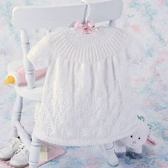 Snow Forest Baby Dress Knit Pattern