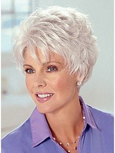 """Resultado de imagem para pixie haircuts for women over 60 fine hair"", ""Browse our full range of Best Old Lady Grey Hair Wig and accessories in our gr Short Hair Dos, Short Grey Hair, Very Short Hair, Short Hair With Layers, Short Wigs, Short Shag, Short Hair Over 60, Long Hair, Mom Hairstyles"