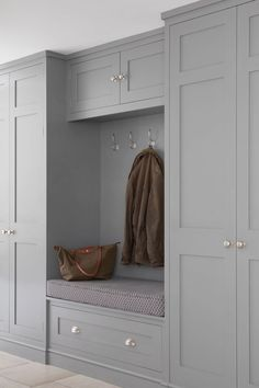 Laundry Room Layouts, Laundry Room Design, Home Room Design, Decor Interior Design, House Design, Boot Room Utility, Hallway Inspiration, Hallway Designs, Hallway Storage