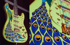 Peacock Guitar 2007 by Danielle Rauto, via Behance - AWESOME!
