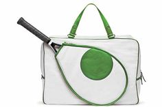 Mystic Tennis bag by Kate Spade is an over the shoulder tote, that's inspired by the fine sport of tennis. Strong, contrasting (white and emerald) colors and clean lines appeal to your. Tennis Bags, Tennis Gear, Tennis Clothes, Tennis Party, Play Tennis, Beach Tennis, Golf Player, Tennis Players, Christian Siriano