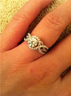 i love this wedding ring, because it has 3 bands, one for God, one for me and one for my husband. best idea ever!
