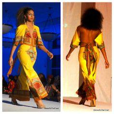 Open back kitenge dress ~ African Style