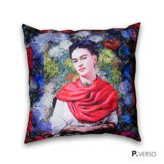 Almofada Frida Kahlo - Floral