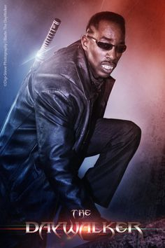 Movie Style Poster Of The Daywalker As Blade