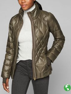 Athleta Responsible Chill Down Coat XSP on Mercari Puffy Jacket, Vest Jacket, Bomber Jacket, Leather Jacket, Women's Puffer, Recycled Fabric, Down Coat, Winter Jackets, My Style