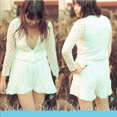 HPx3 - The DAPHNE lace romper BOTTOM PRICE, NO FURTHER DISCOUNT Talk about cute yet sexy. Slip into this soft long sleeve romper. Back zipper. Please see pic #4 for actual lace design for romper sleeve. ‼️NO TRADE‼️ Dresses