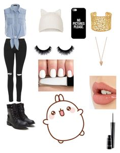 """Kawaii~"" by andleigh on Polyvore featuring Topshop, Casetify, Brooks Brothers, Pamela Love, Charlotte Tilbury and MAC Cosmetics"
