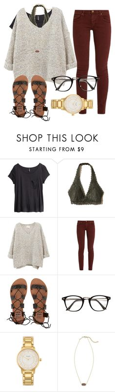 """""""Untitled #44"""" by jiggle207 on Polyvore featuring H&M, Hollister Co., The Great, Billabong, Kate Spade and Kendra Scott"""