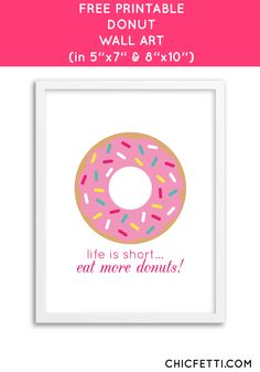 Free Printable Donut Art from @chicfetti - easy wall art diy