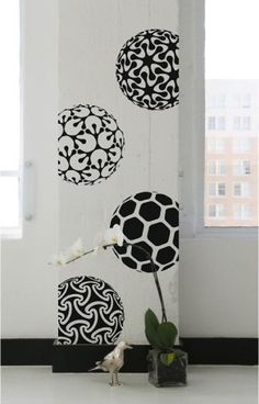 Turquoise Black And White Paisley Dot Wall Decals, Removable And Reusable |  Teal, Removable Wall And Wall Decals Part 15
