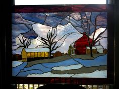 Shelley's Stained Glass winter scene