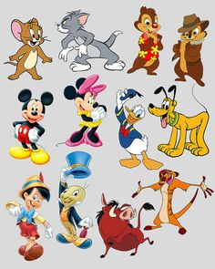 The characters of Disney cartoons. by DigitalReflection Looney Tunes Characters, Classic Cartoon Characters, Looney Tunes Cartoons, Favorite Cartoon Character, Classic Cartoons, Disney Cartoons, Funny Cartoons, Cartoon Profile Pictures, Cartoon Pics