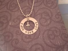 Faith Love Hope Sterling Silver Charm Necklace by TheSterlingCharm, $27.00