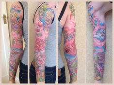 girly sleeve by kymynez on deviantart tattoos pinterest tatouages. Black Bedroom Furniture Sets. Home Design Ideas