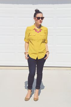 Autumn Yellow - Love me some jewel tones for fall!