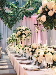 Bring the outside in with au naturel wedding décor. Add oversized potted trees to a ballroom for an instant forest effect, or include elements like wood, stone, or greenery to manipulate and give your décor an undone but beautiful look.
