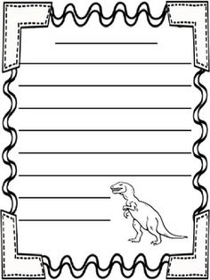 Free Dinosaur Themed Writing Paper