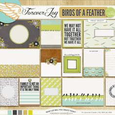Birds of a Feather Journal Cards by Forever Joy at The Lilypad